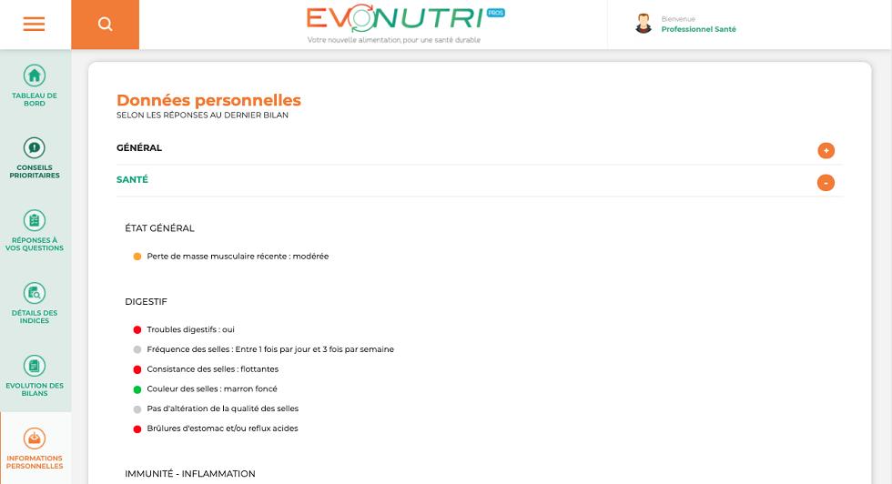 EvoNutri, la plateforme pour les pros