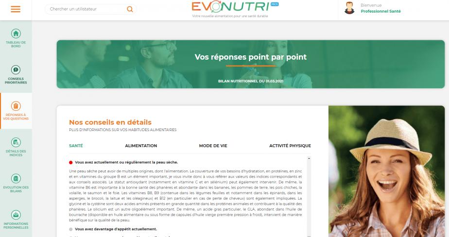 Plateforme Evonutri